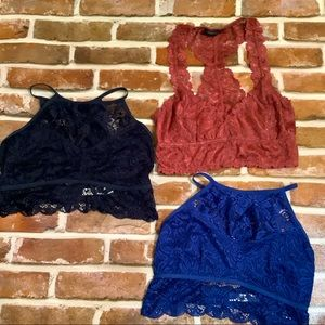 New Zenana Outfitters & More bralettes, medium x3